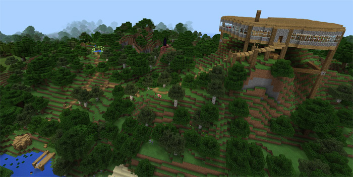 Minecraft pocket edition hilltop house survival world map download hilltop house map here gumiabroncs Gallery