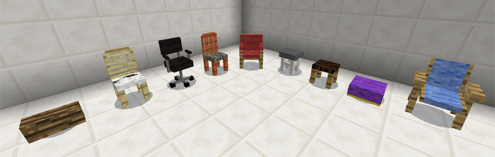 Minecraft Pocket Edition: More Chairs Add On Download