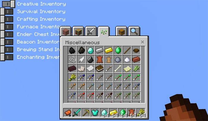 Minecraft Pocket Edition: Inventory Tweaks Add-On - MCPEDownload